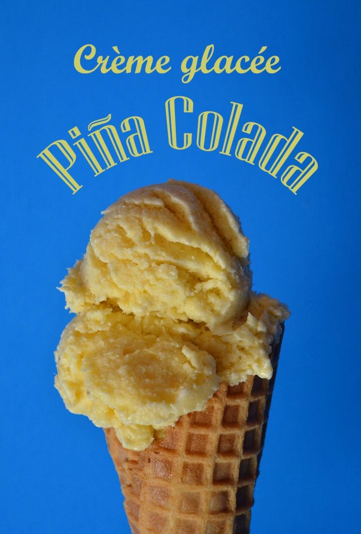 Crème glacée festive Pina colada texte