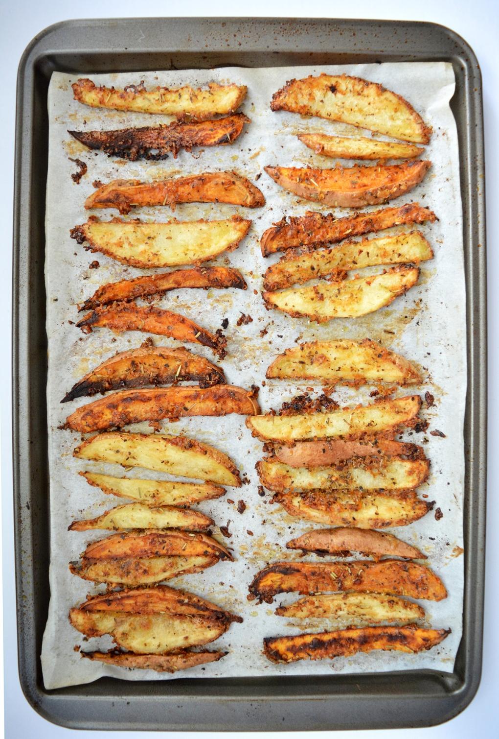 pétates frites au parmesan après