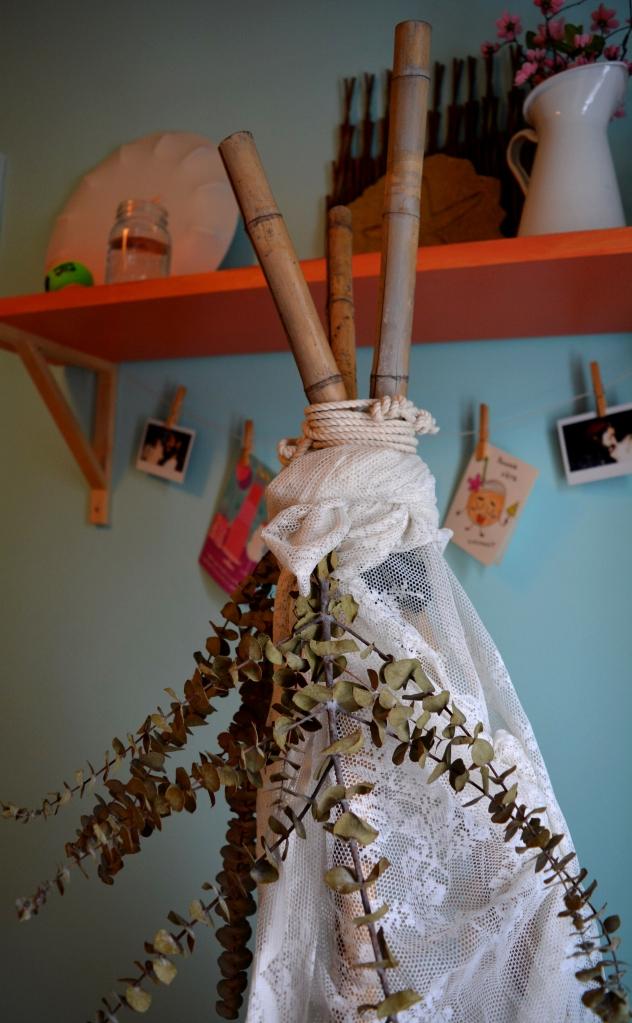 tipi boho corde eucalyptus