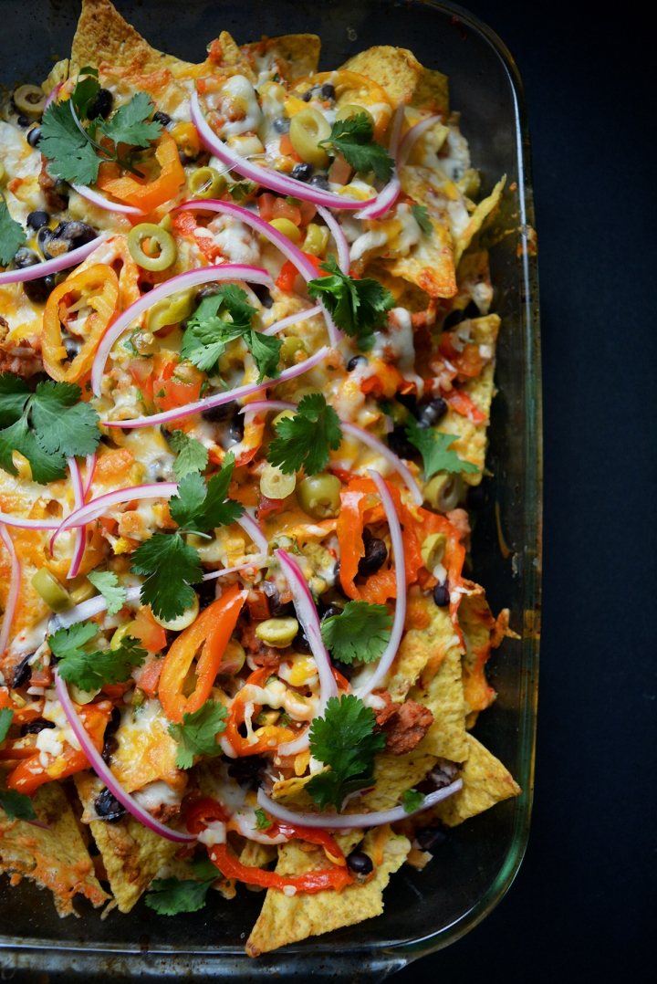Nachos gourmands 3 étages