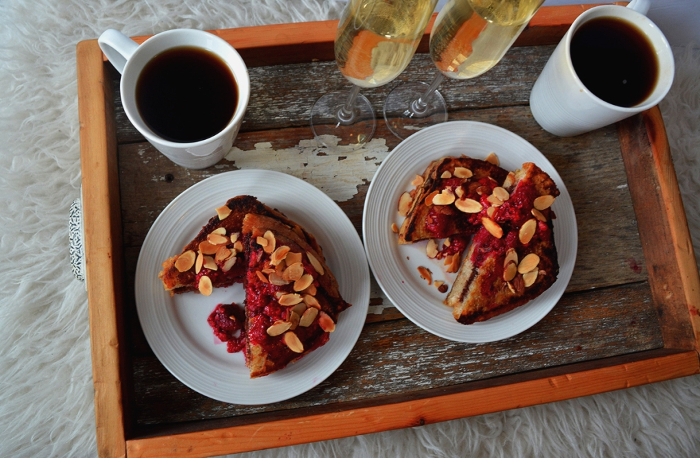 pain doré sandwich au lit brunch st valentin a deux recette facile petit-dej fait maison
