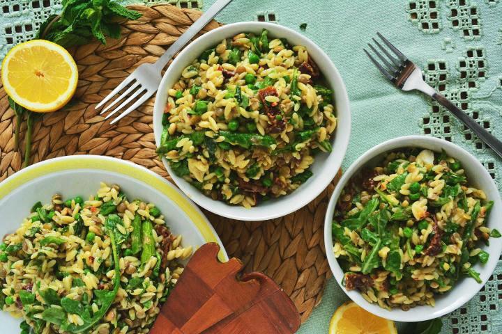 Salade repas printanière