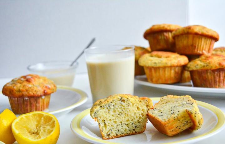 Muffins au citron etpavot